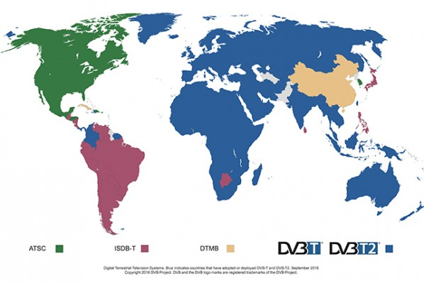 Dvb world map over the air digital tv dvb world map gumiabroncs Image collections